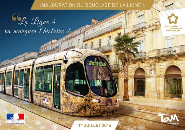 Inauguration Bouclage Ligne 4 TramWay