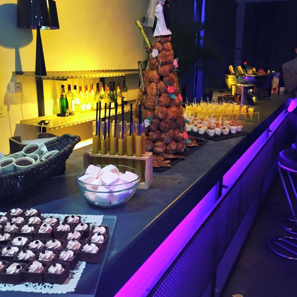 Buffet de dessert pour le mariage de C&G au Delta